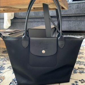 Longchamp Le Pliage  Black Small Made in France